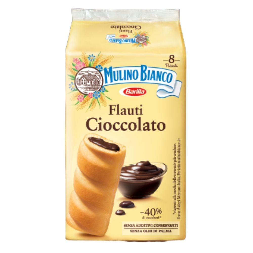 "Mulino Bianco Flauti with Chocolate 280gr (9.87 oz)  ""Imported from Italy"""