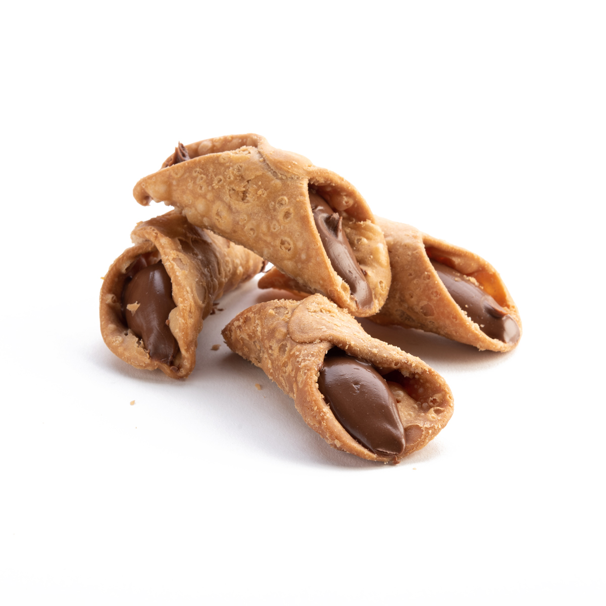 "Italian Desserts: ""Sicilian Cannoli"" Pastry Filled with Hazelnut Cream 200gr (7.05oz)"