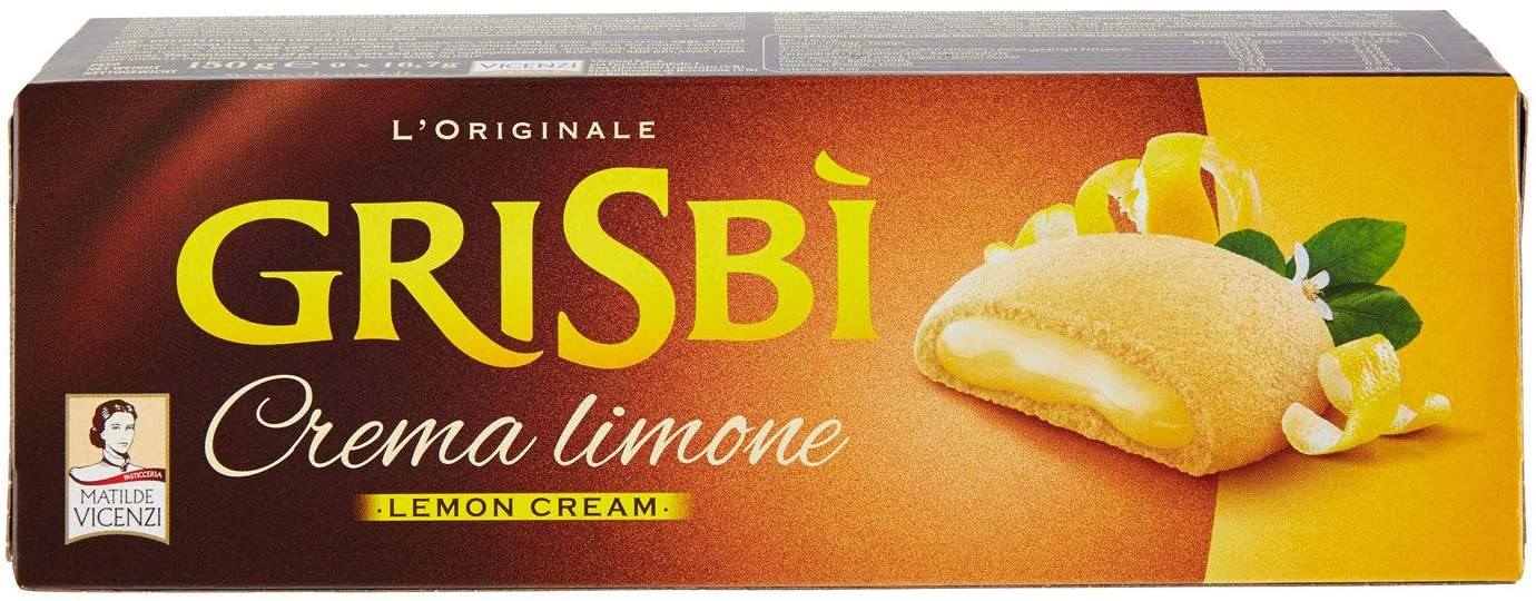 "Grisbì Lemon Cream filled Cookies by Vicenzi - 5.29 oz. ""Imported from Italy"""