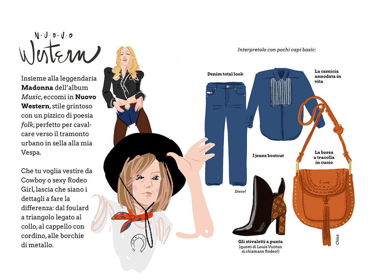 Mode e Muse - New Western with Madonna - by Silvana Mariani