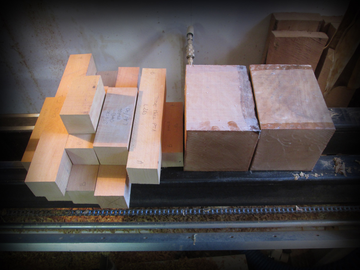 Wood ready to be machined