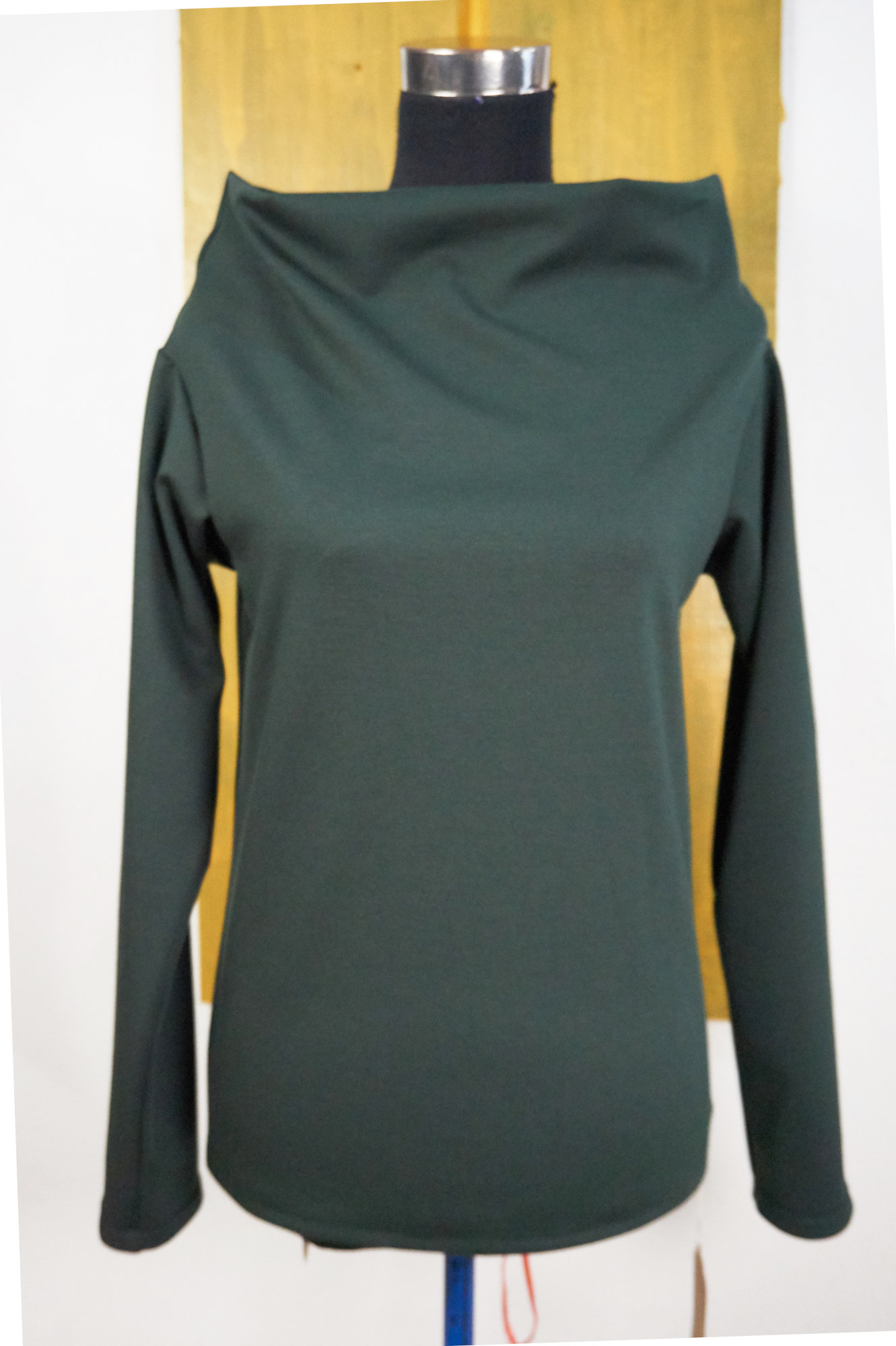 sweater ABside in wool jersey with boatneck