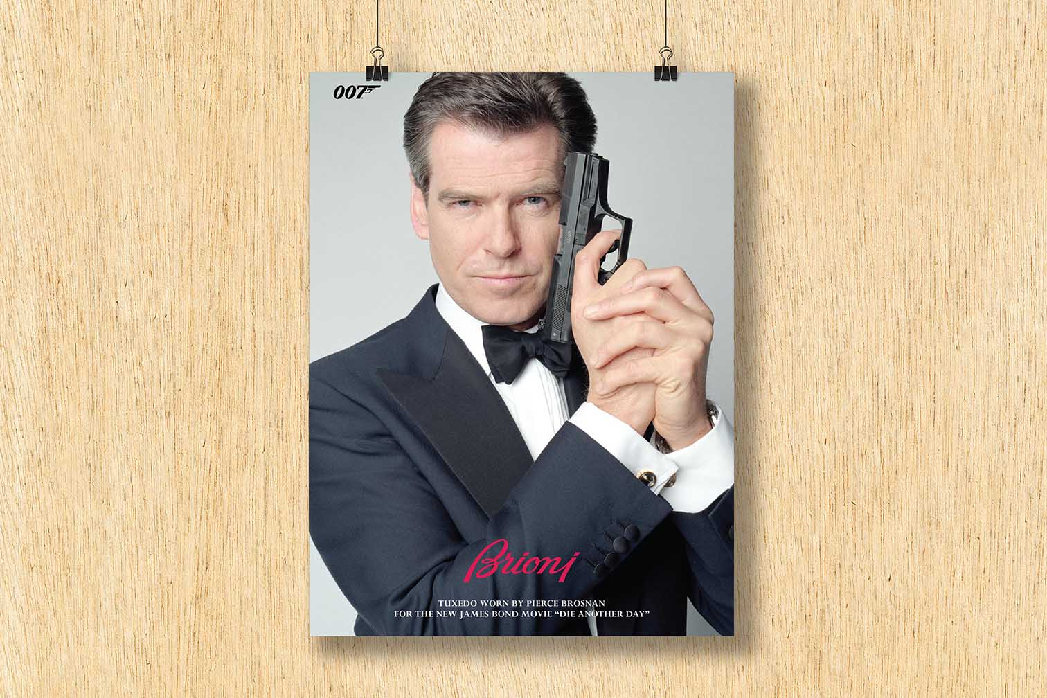 Pierce Brosnan - promotional poster for 007