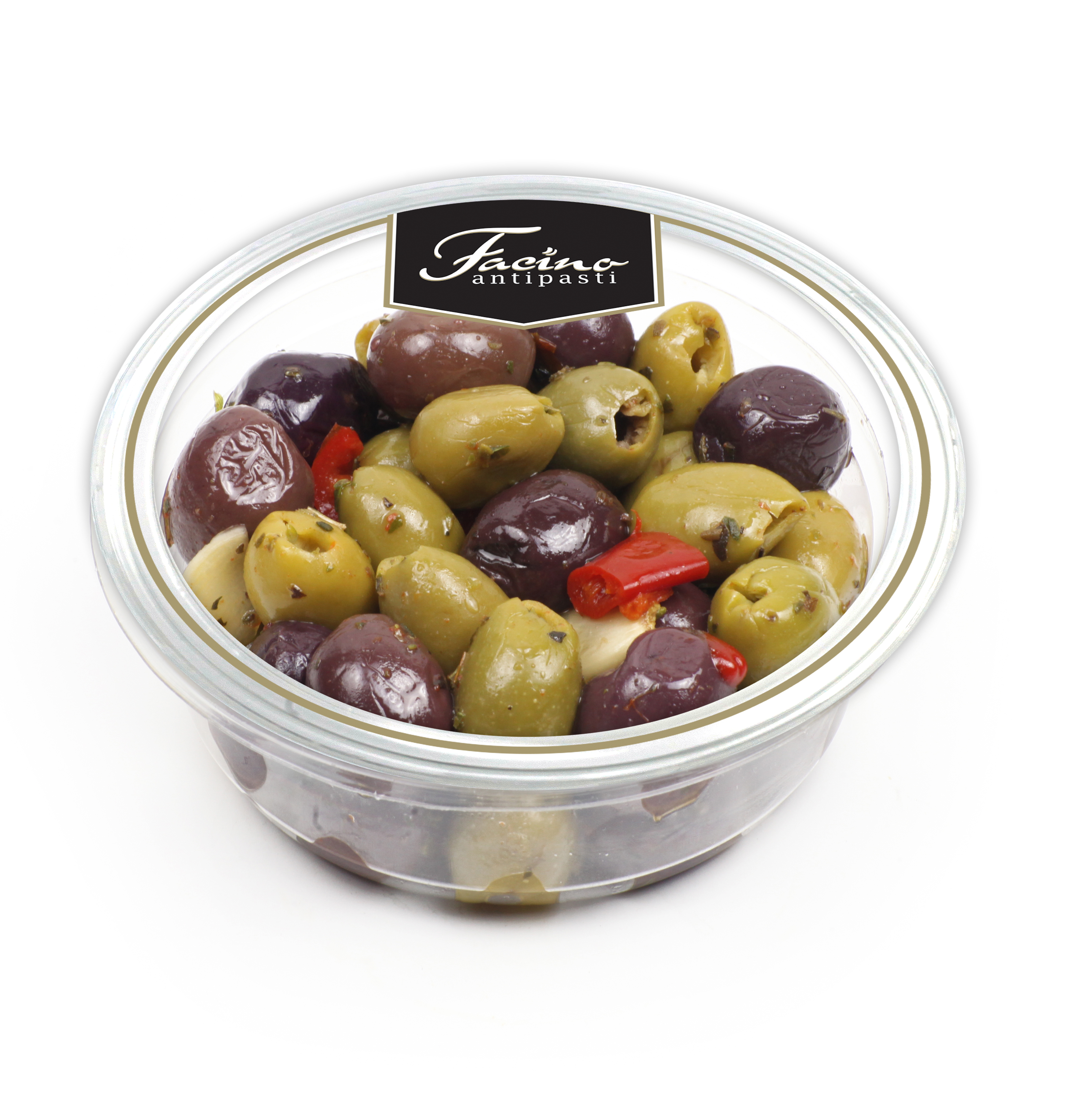 "Mix Olives pitted 200gr ( 7.05 oz ) ""Imported from Italy"""