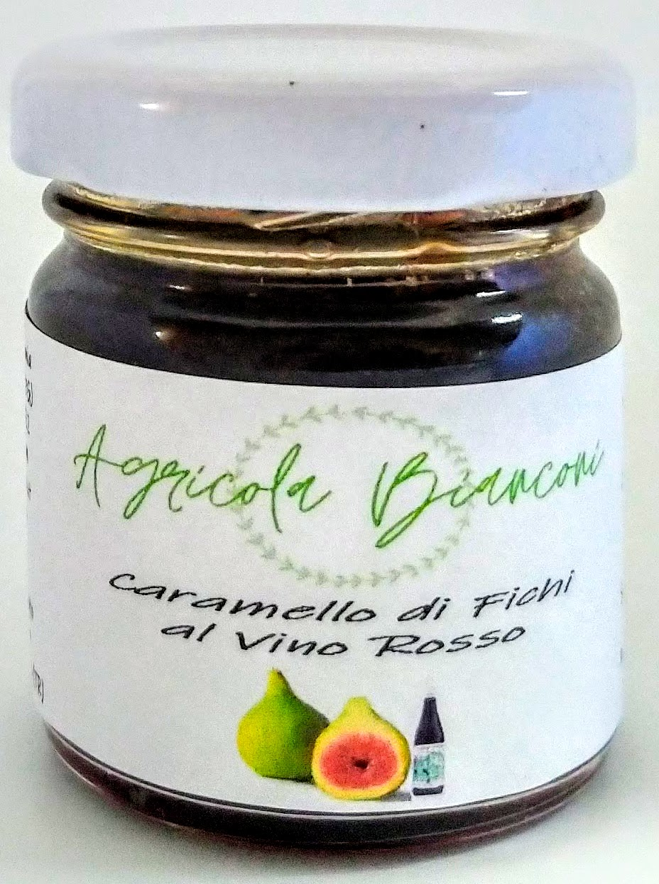 CARAMELLO DI FICHI E VINO ROSSO 40 GR - CARAMEL OF FIGS AND RED WINE 40 GR