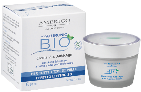 Crema viso anti-age Lifting Amerigo Acido Ialuronico 50 ml