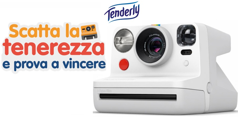 "VINCI fotocamera istantanea Polaroid NOW WHITE con TENDERLY  ""Scatta la tenerezza"""
