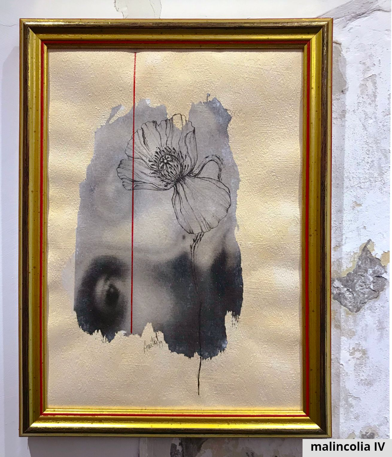 P06 - malincolia serie - black&flowers exposition