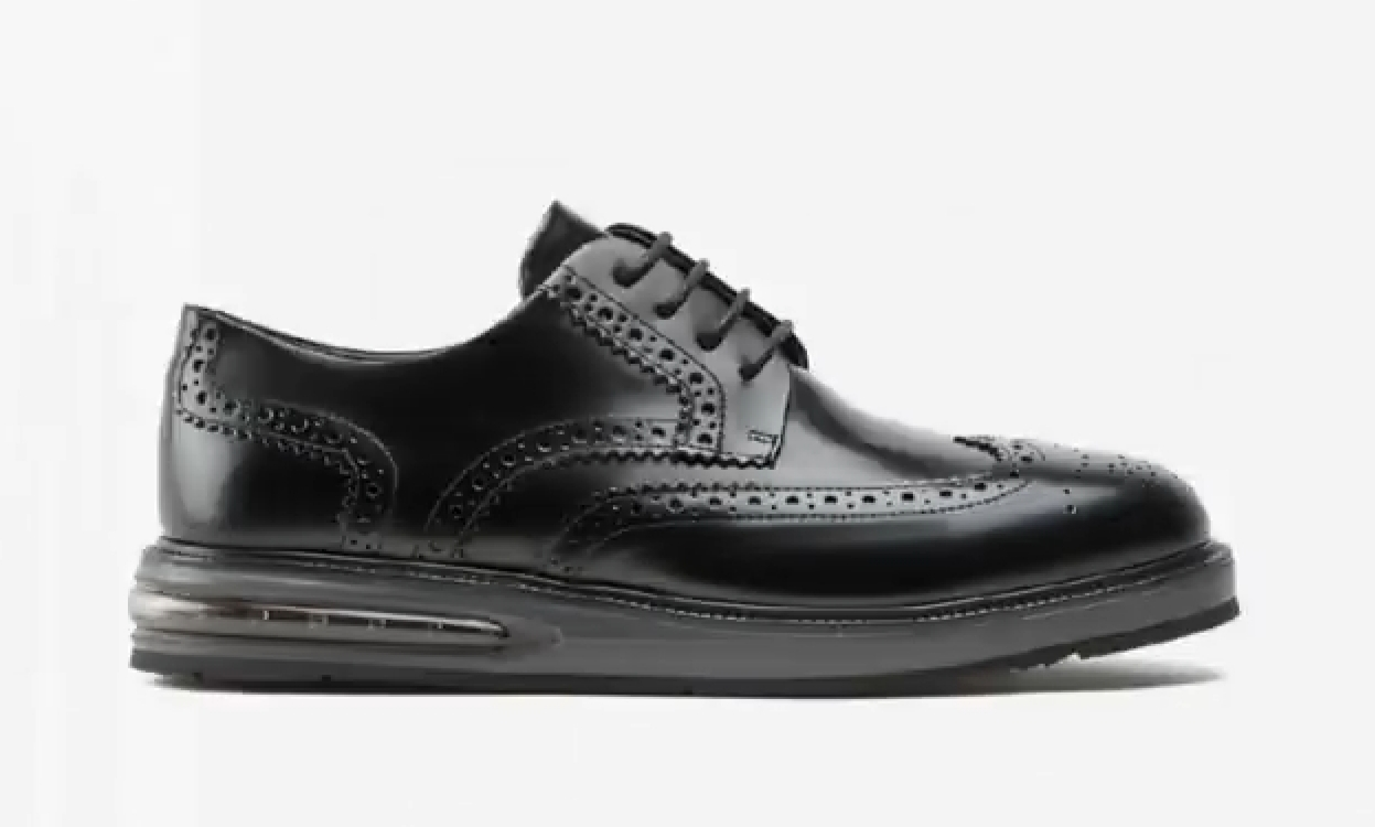 Scarpa Air Brogue Leather Black Barleycorn
