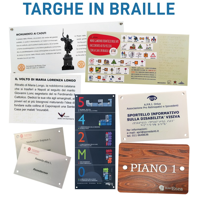 targhe Braille