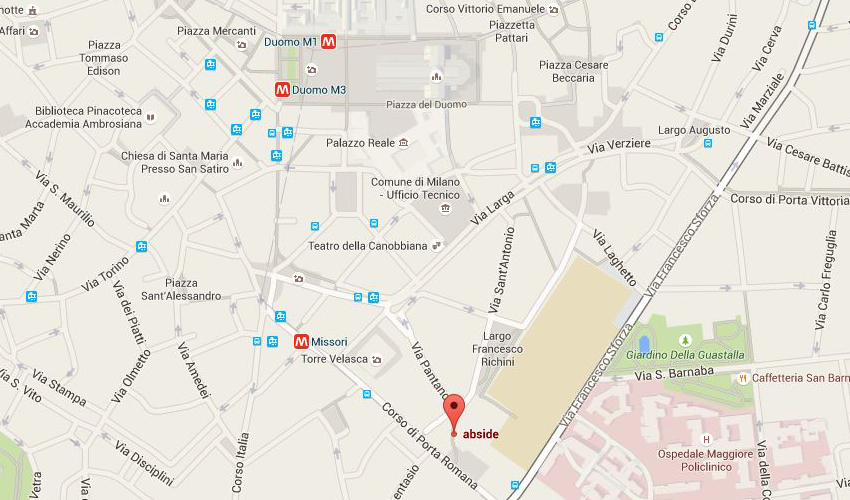 ABside map in milan