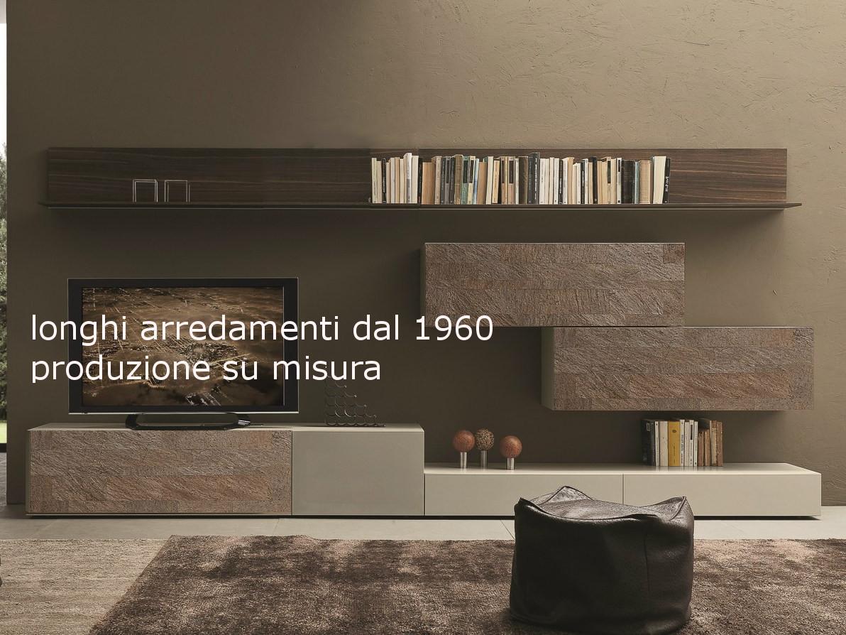 Mobili e pareti soggiorno su misura in legno naturale massiccio - Mobili soggiorno su misura ...