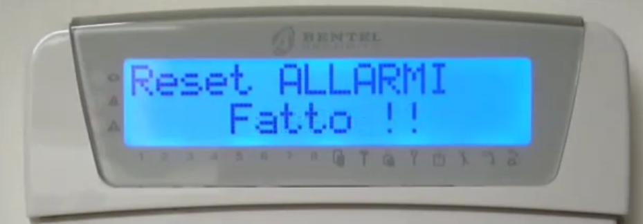Rimuovere rapidamente le notifiche di allarme sabotaggio e guasto da tastiera Lpng