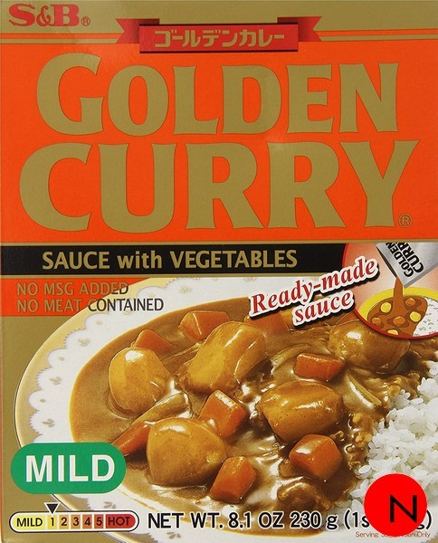 GOLDEN VEGETABLE CURRY MILD 230G