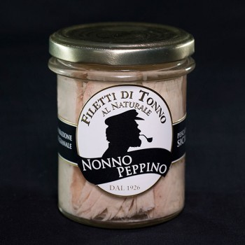 Filetti di tonno al naturale 200g
