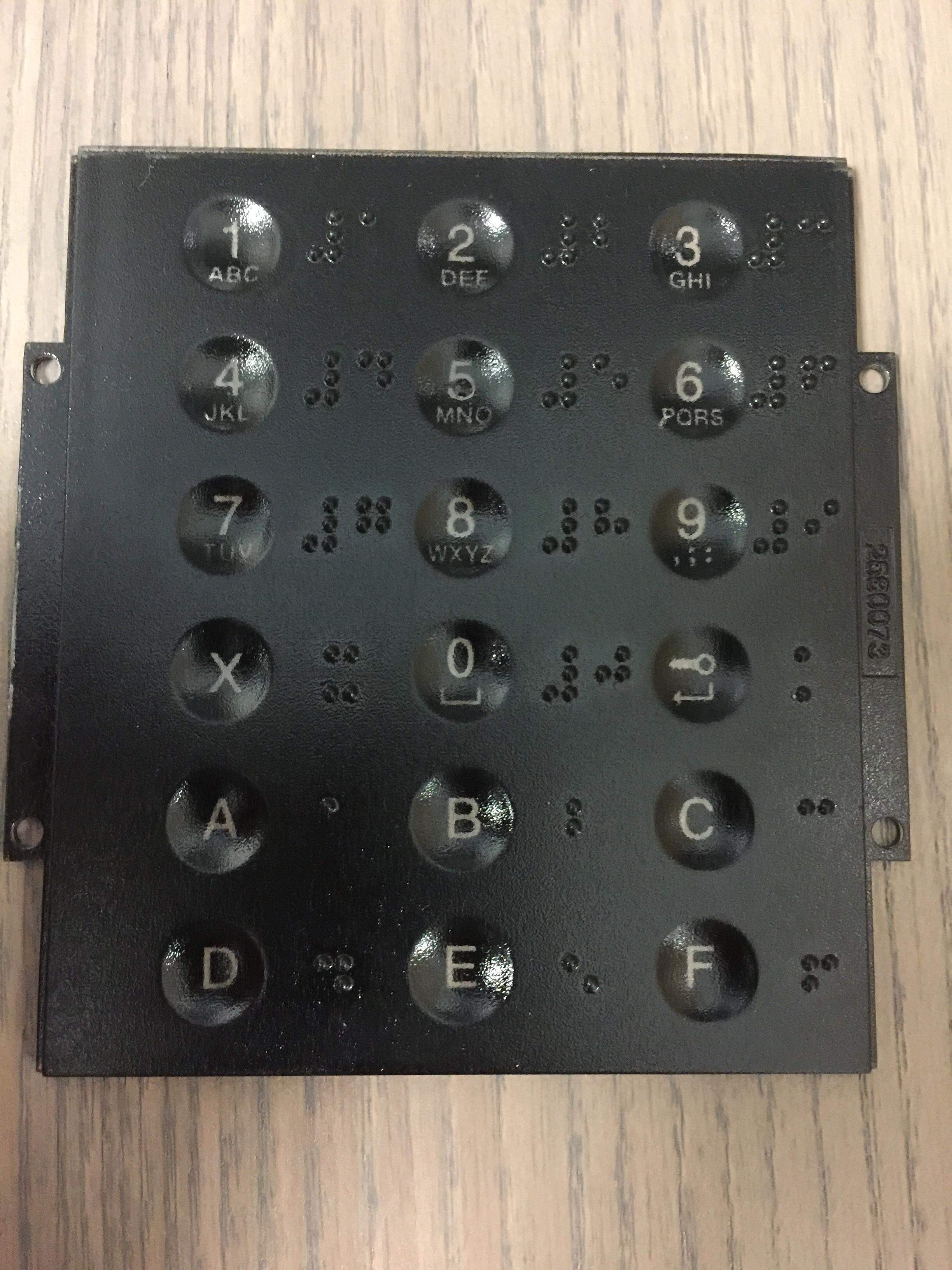 citofono Braille