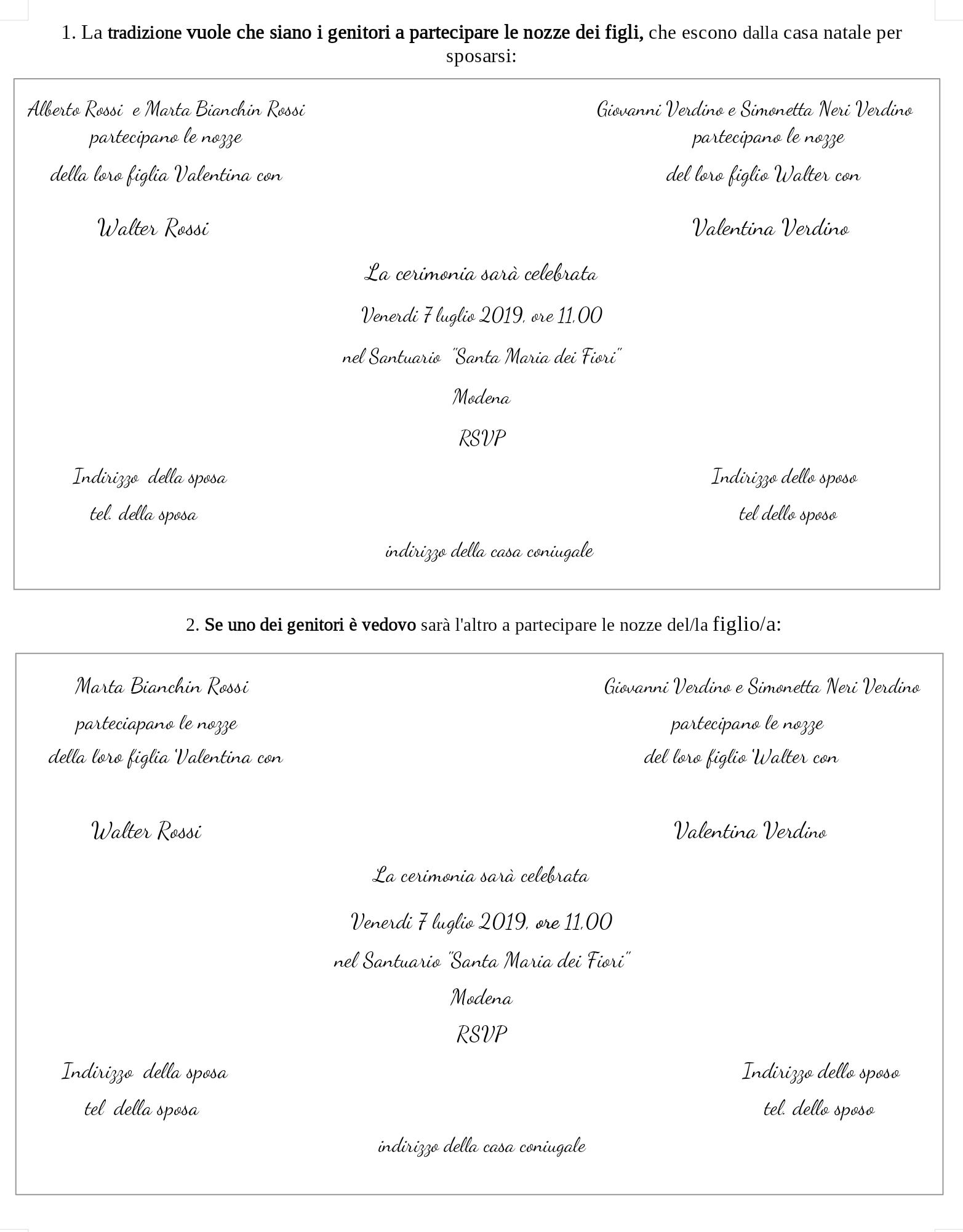Formula Partecipazioni Matrimonio.Le Partecipazioni Di Nozze Le 6 Principali Formule Per Scriverle
