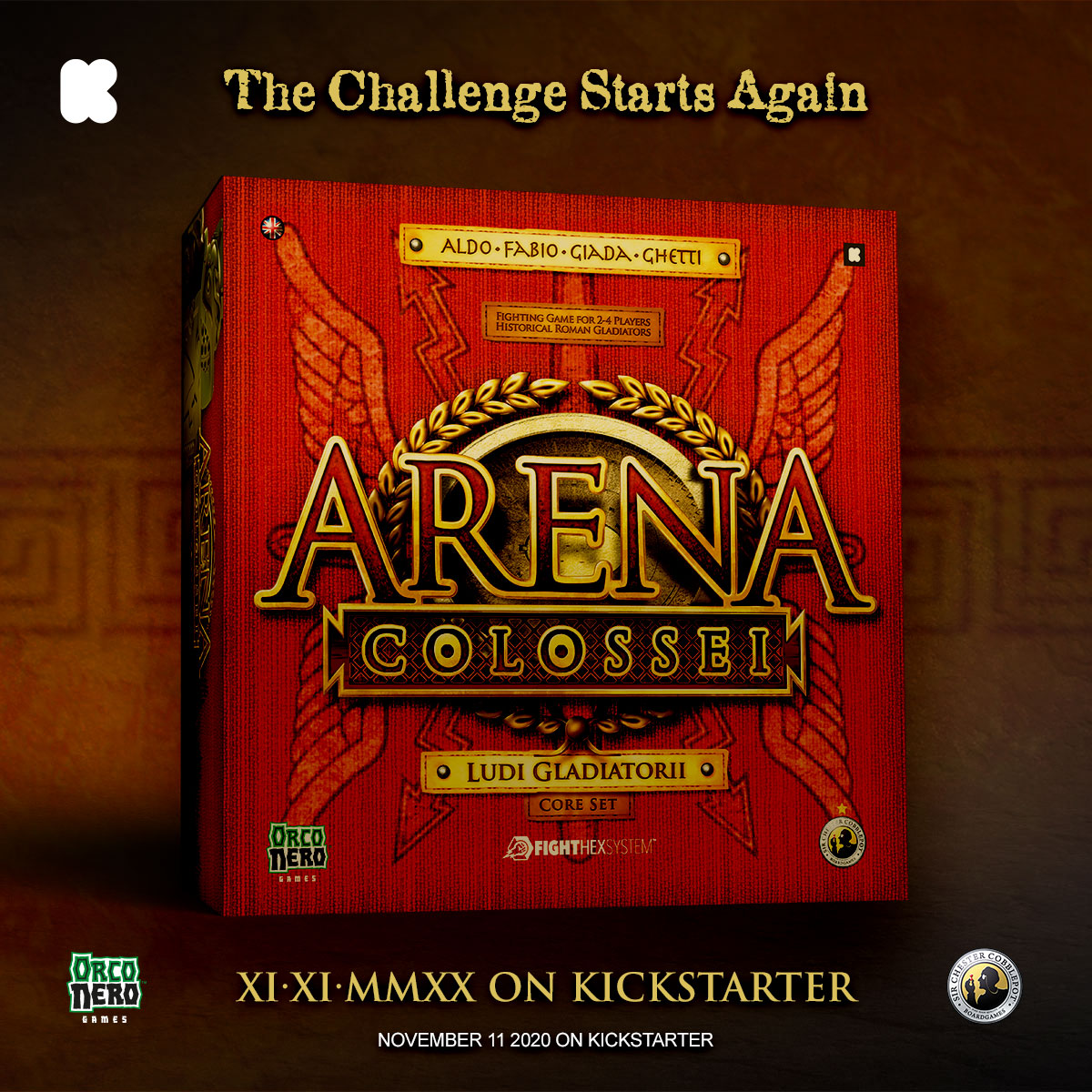 EN. Games: Arena Colossei is back on Kickstarter