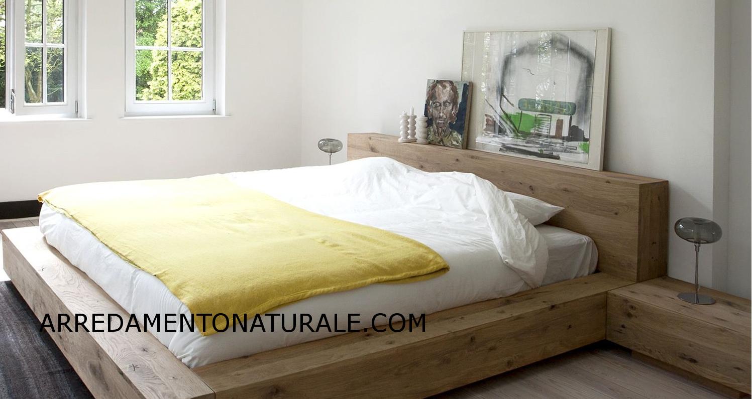 Letti contenitore in legno massello di teak e rovere for Arredamento di design naturale