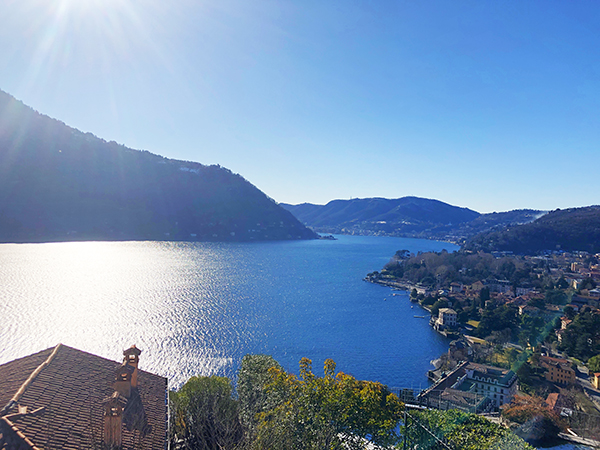 Lake Como view from Cernobbio Villa d'Este cycling holiday