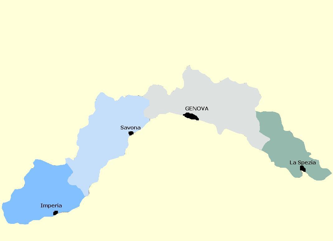 Regione Liguria Cartina Fisica.Regione Liguria