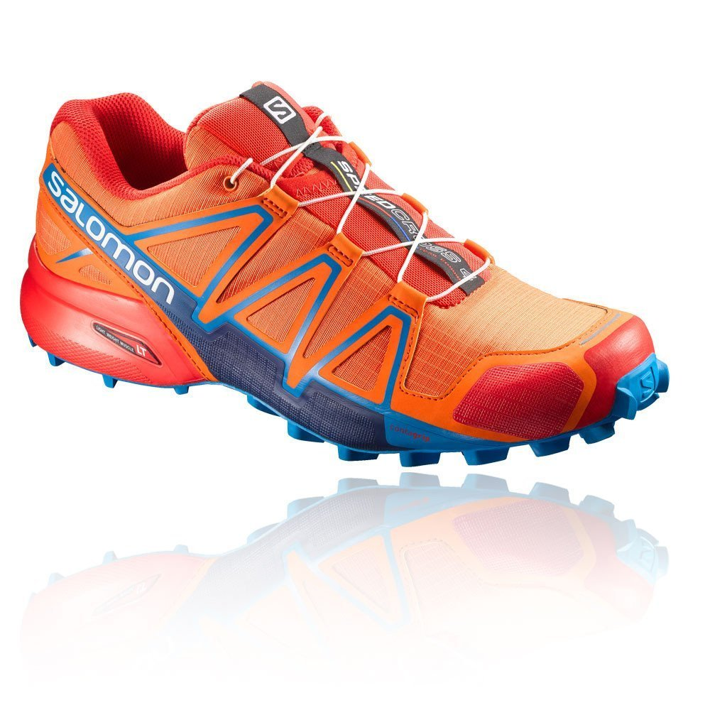 SALOMON Speedcross 4,Scarpe Trail Uomo(Scarlet Ibis/Hawaiian Surf/Fiery Red)-398421-UK 9.5 - EU 44
