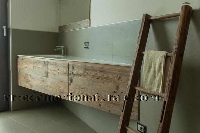 Bagno Legno Naturale : Mobili da bagno in legno massello su misura con essenze pregiate
