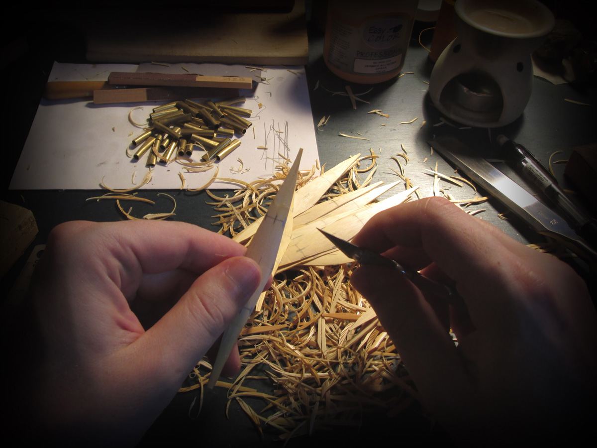 Shaping a chanter reed