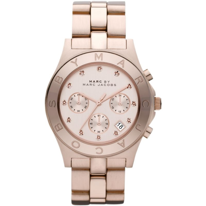 Blade Chronograph Rose Dial Ladies Watch MBM3102