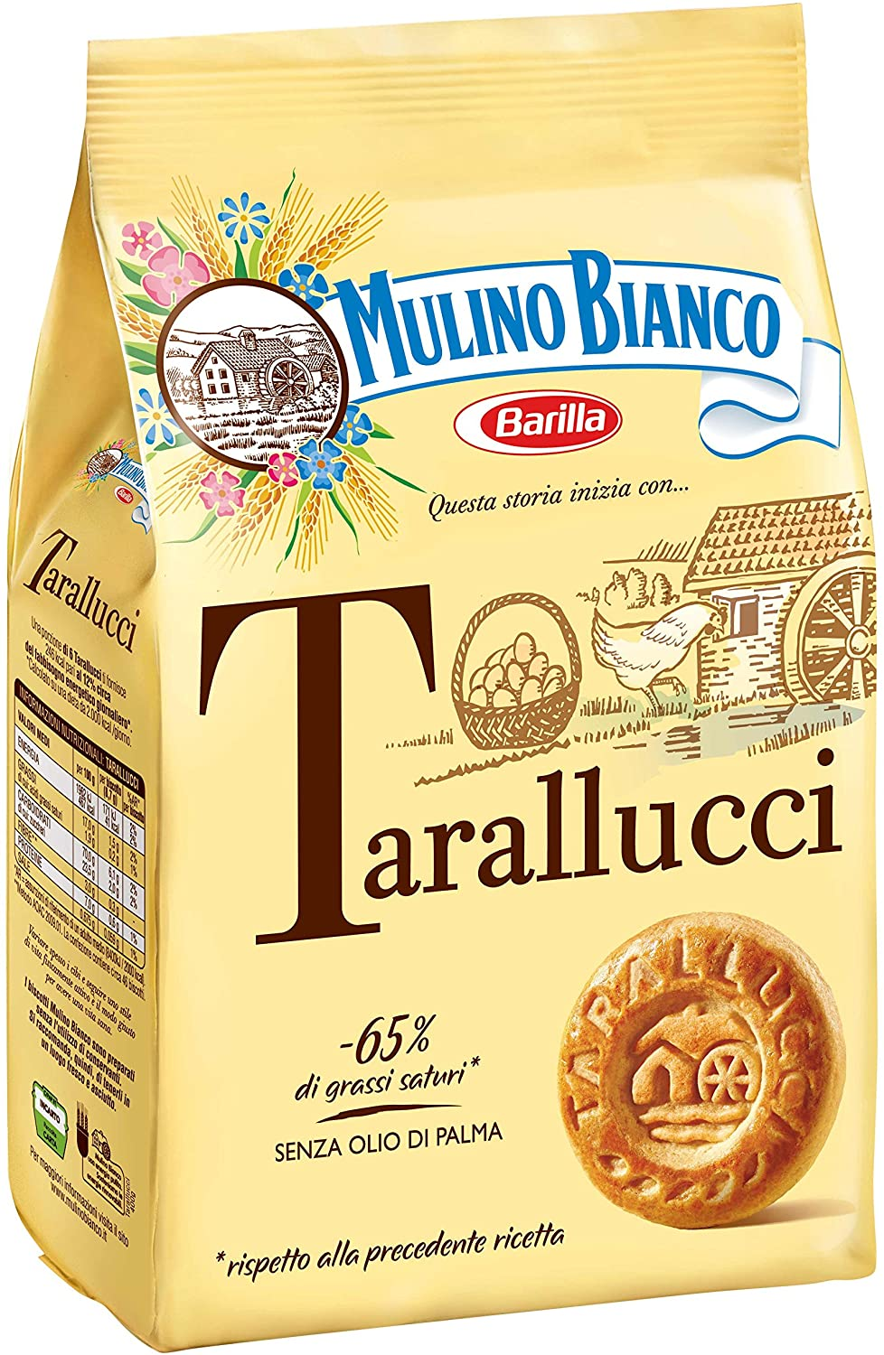 "Tarallucci Cookies by Mulino Bianco 350gr (12.34oz) ""Imported from Italy"""