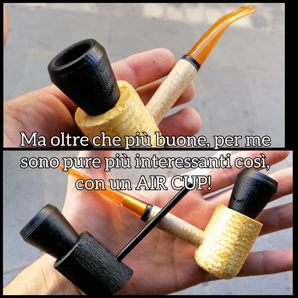 "Job Pipe Air Cup ""Black Faggio (Simile alla RADICA) Size L o S"""
