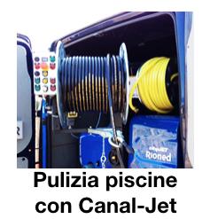 Pulizia piscine con Canal-Jet