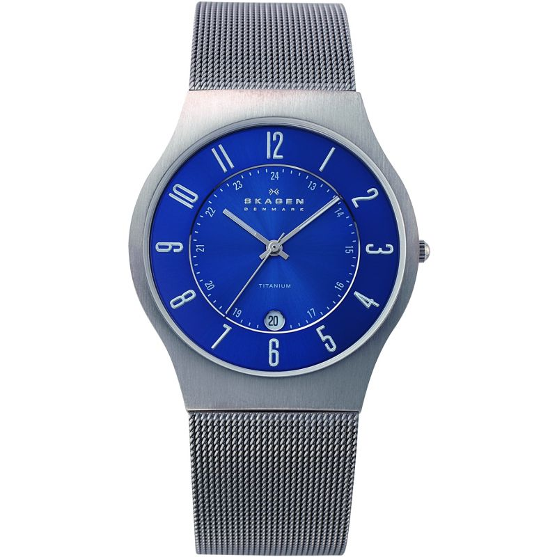 Men's Skagen Grenen Titanium Watch 233XLTTN