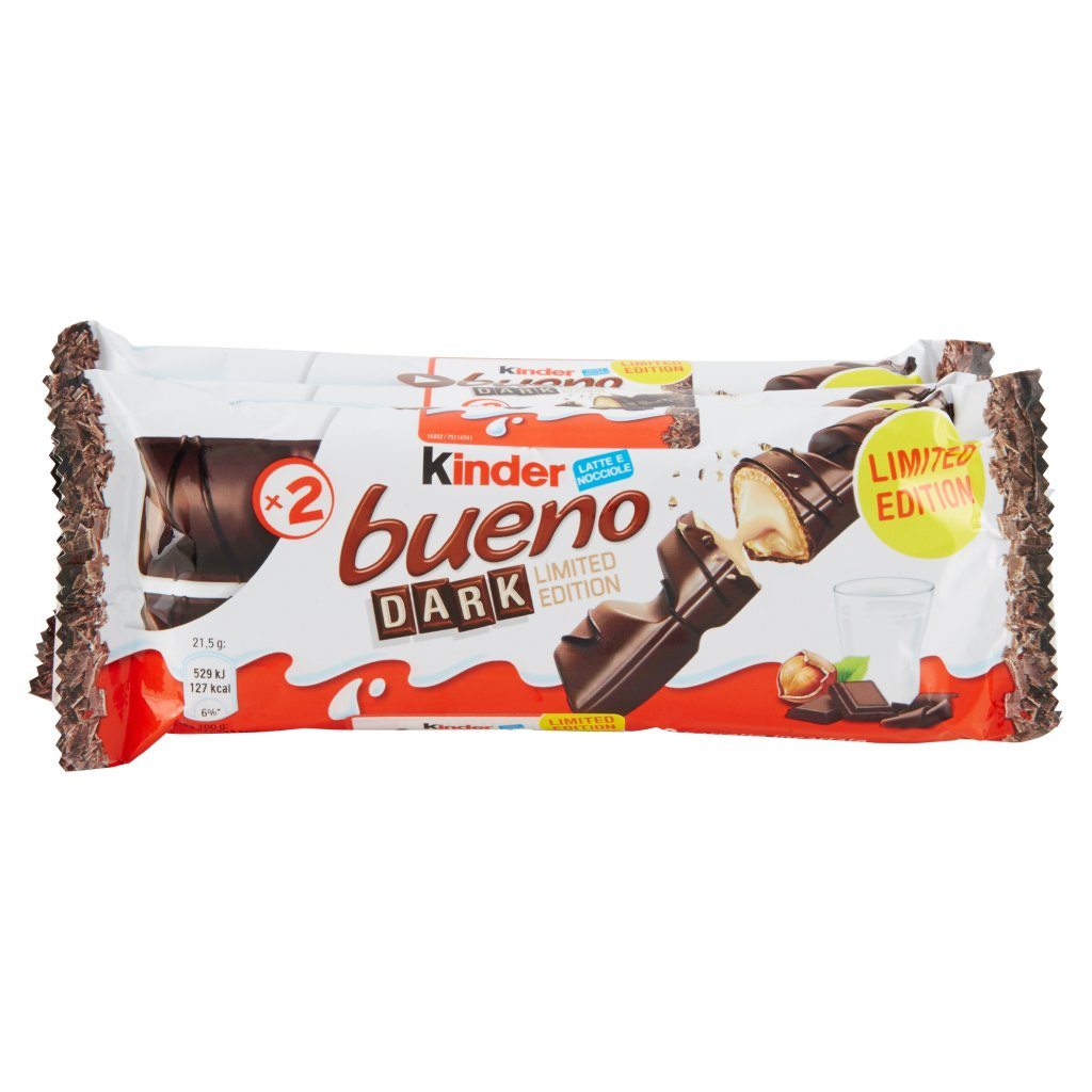 "Kinder Bueno Dark Chocolate 3pz ""Imported from Italy"""