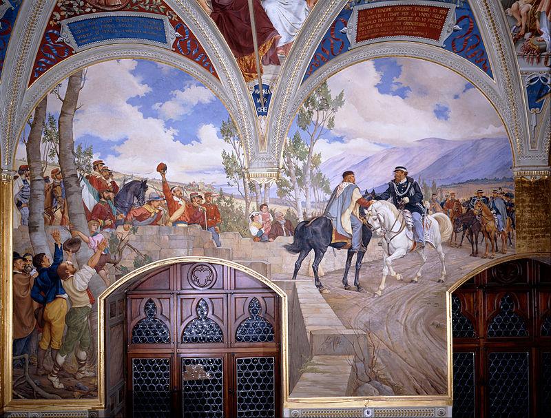 b1Pietro_Aldi_-_Victor_Emanuel_II_Meeting_Giuseppe_Garibaldi_at_Teano_-_Google_Art_Project 1jpg