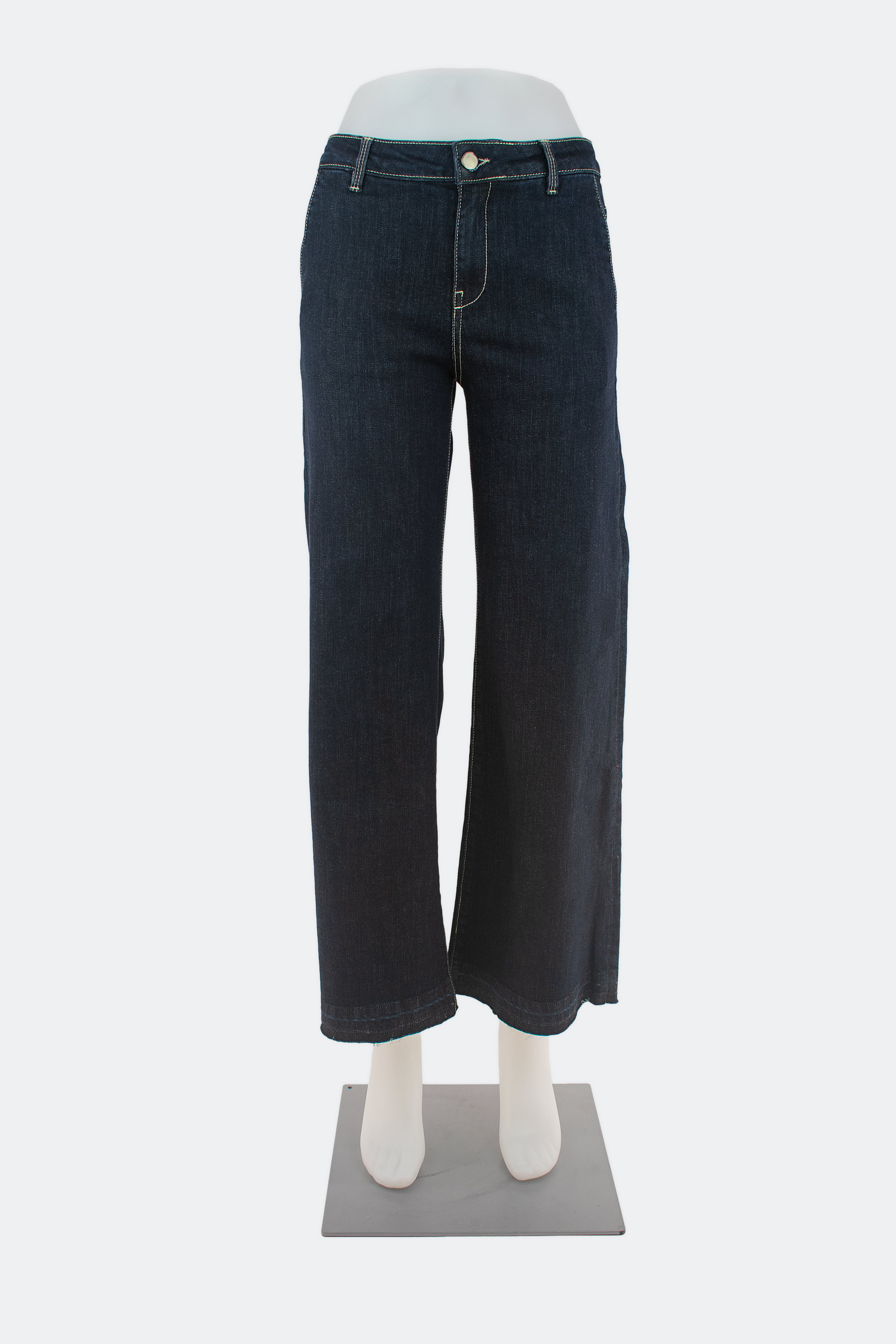 WST70626 blue black Jeans  largo