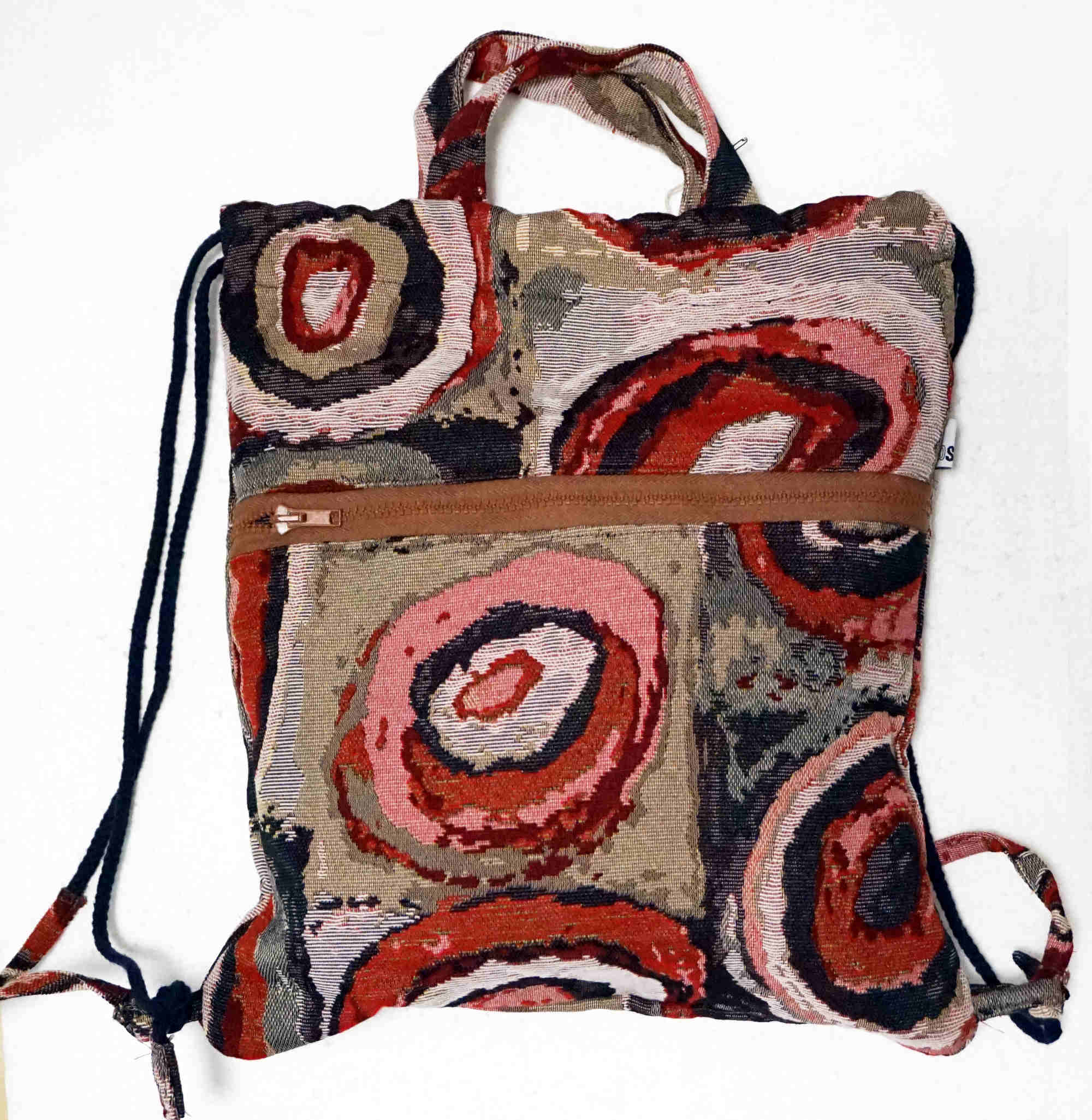 backpack-bag in furniture fabrics