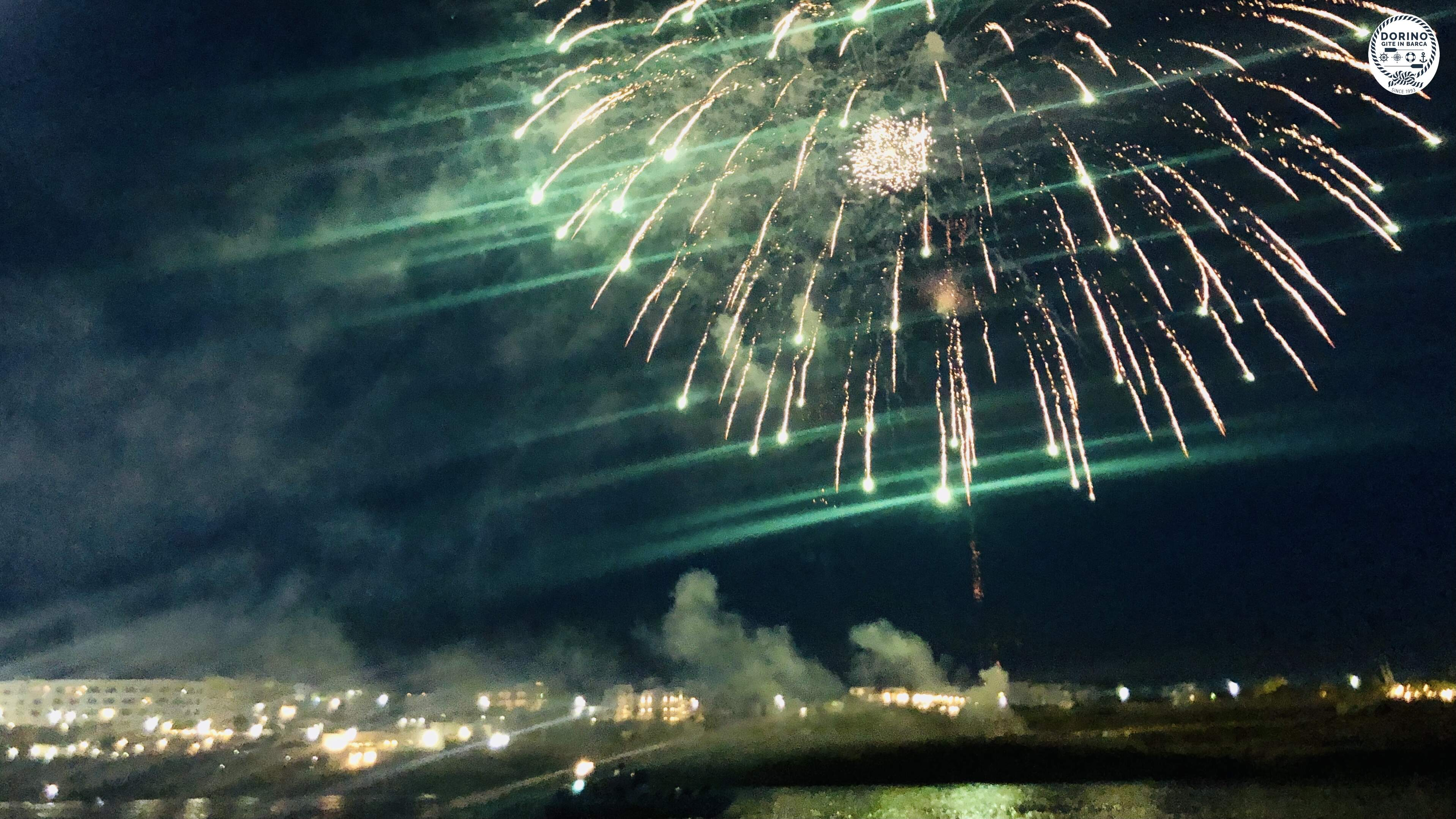 The fireworks display on the occasion of the celebration of San Vito patron saint of Polignano