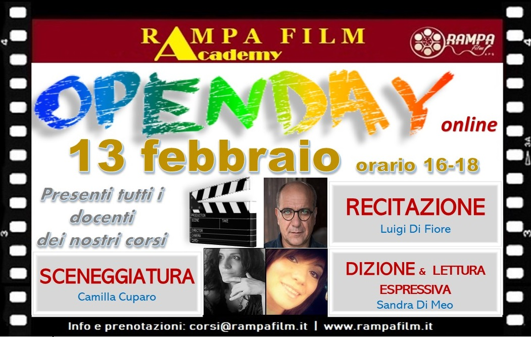 OPEN DAY - I nostri corsi online di CINEMA