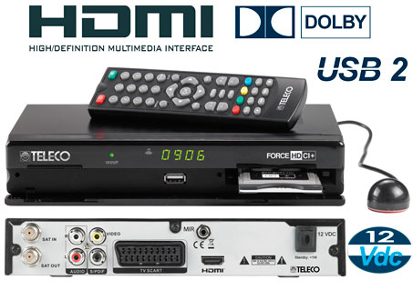 Decoder TV Sat  Force HD3 Teleco Multiprotocollo VIacces Nagra Fransat