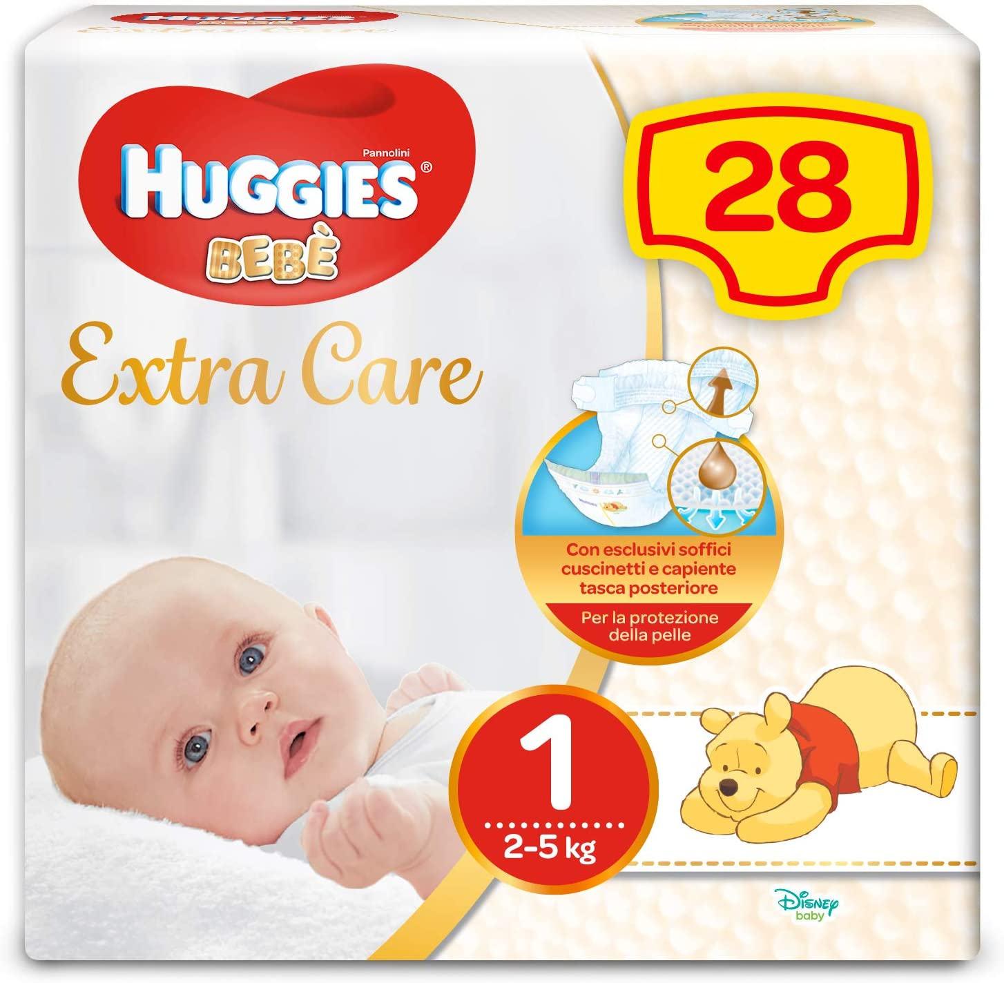 Huggies Bebe extra care 1^ 28 pz,