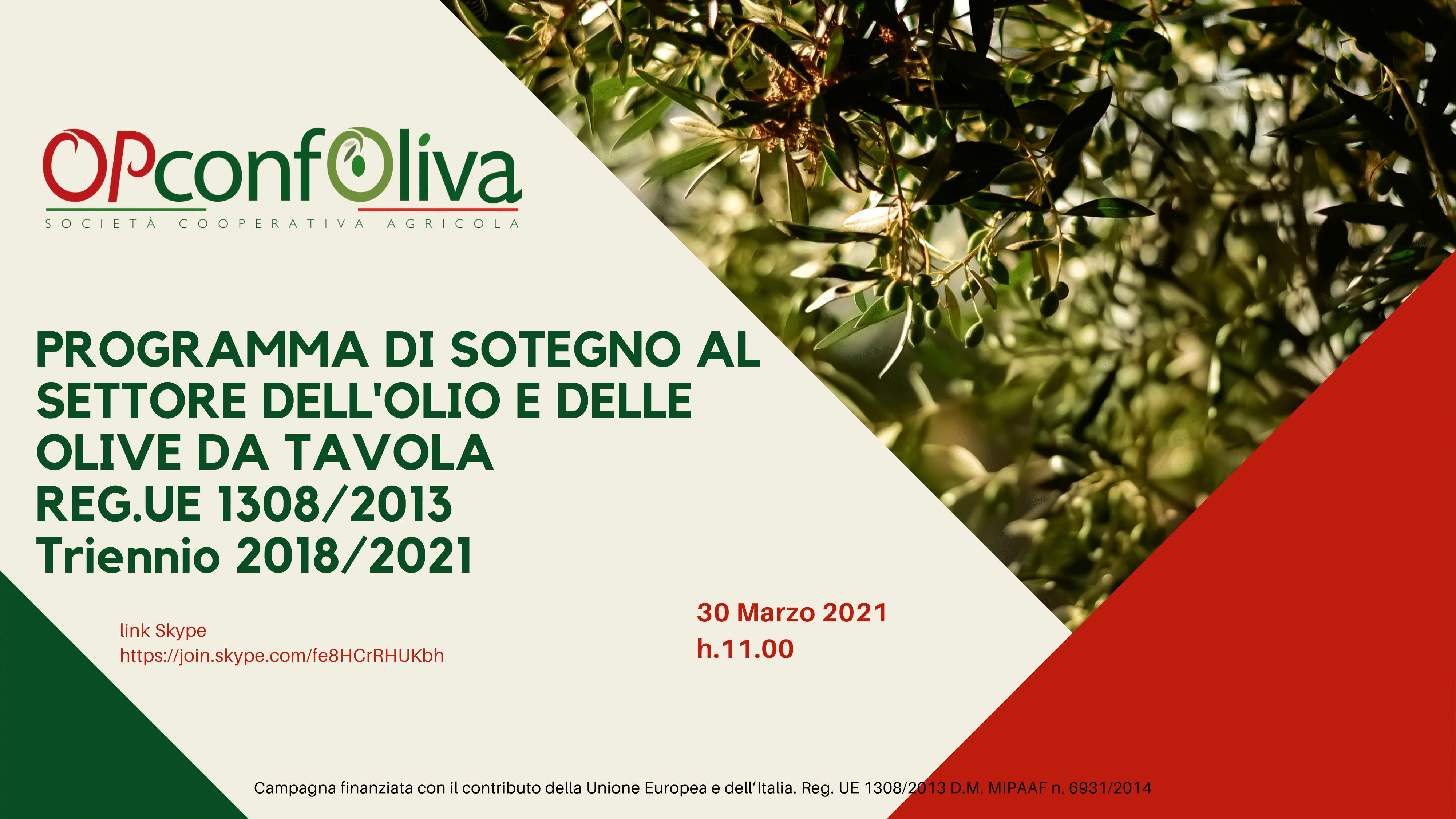 PROGRAMMA DI SESOTEGNO AL SETTORE DELLOLIO E DELLE OLIVE DA TAVOLA - REGUE 1308_2013 Triennio 2018_2021-1png