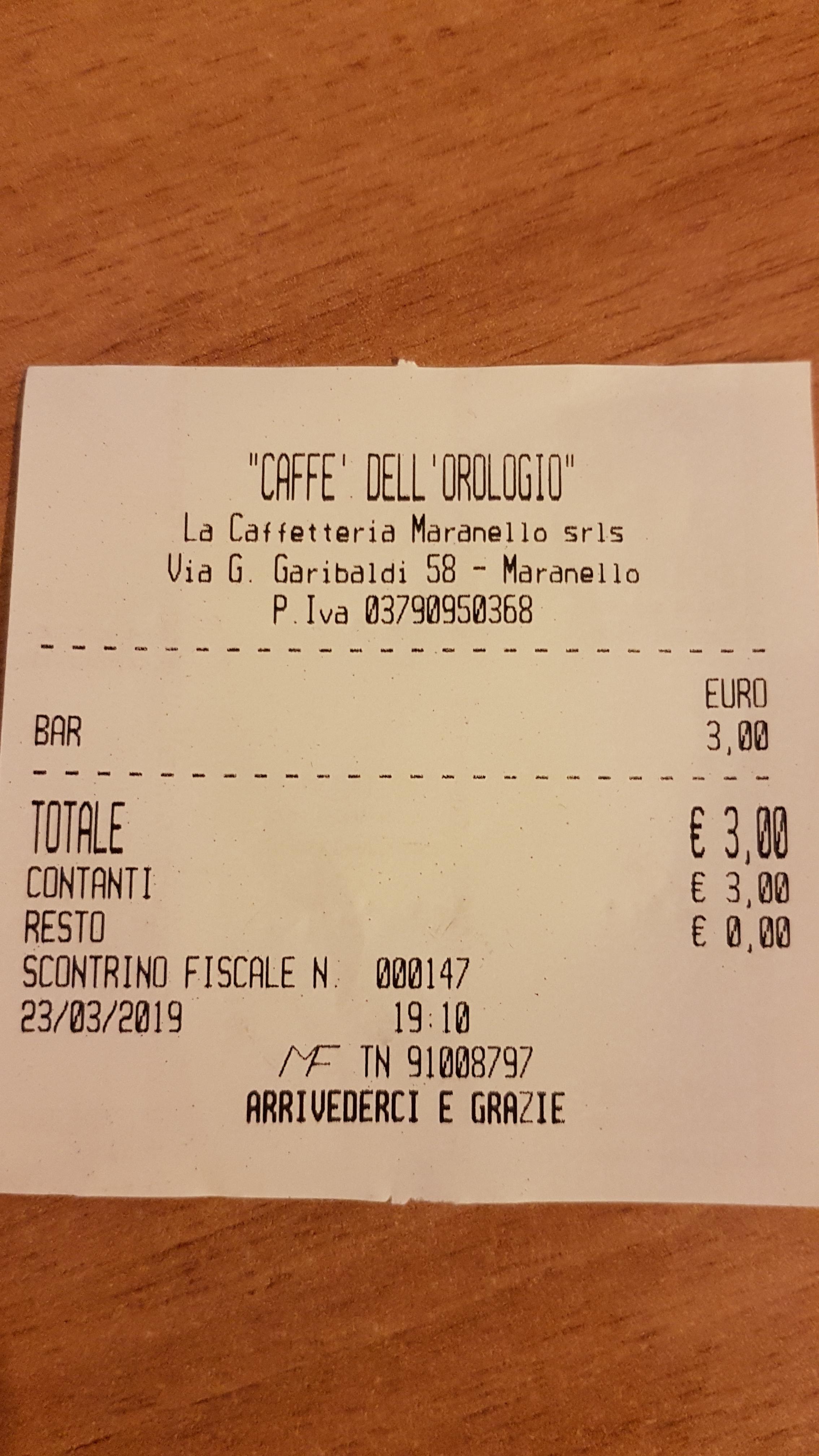 caffe dellorologio scontrinojpg
