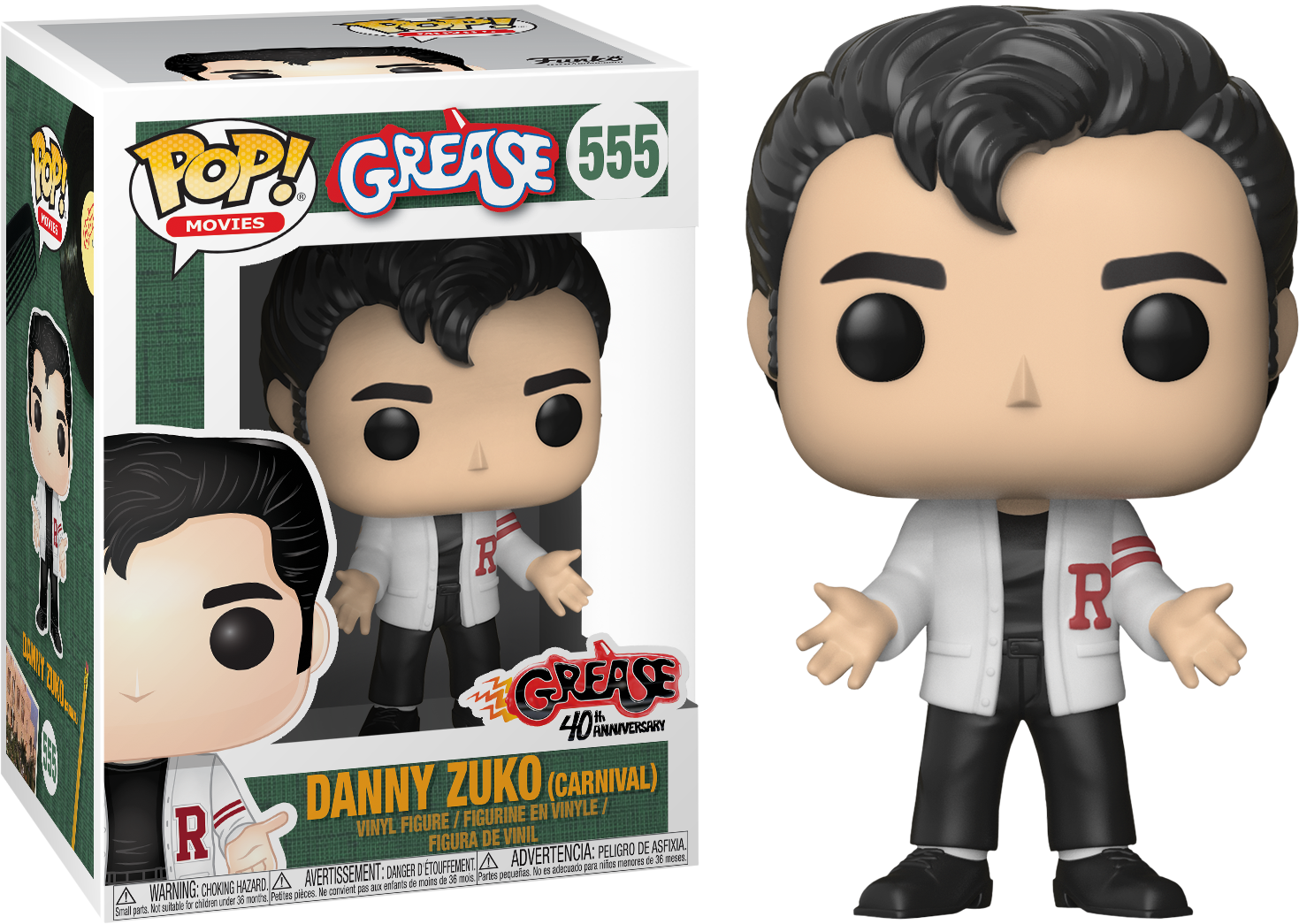 FUNKO POP DANNY ZUKO #555 JOHN TRAVOLTA GREASE MOVIES