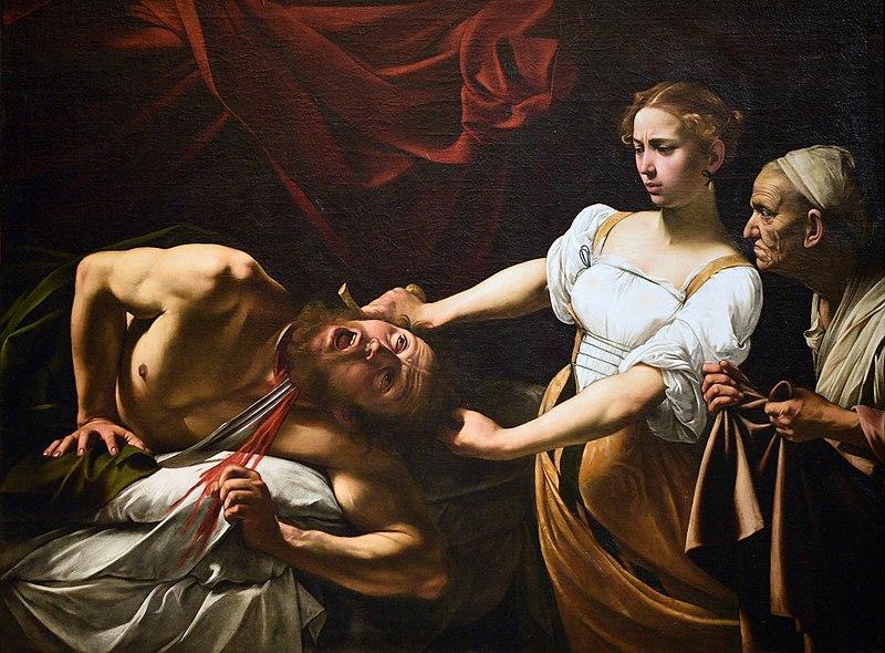 caravaggio giuditta e oloferne 1600 1602 roma galleria nazionale darte anticajpg