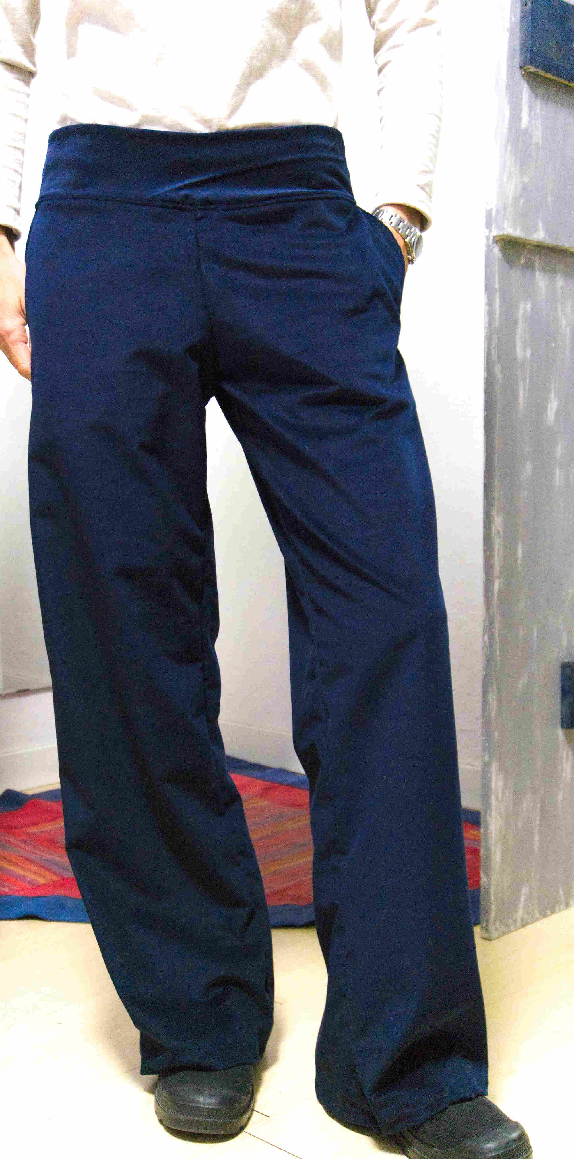wide leg trousers - corduroy