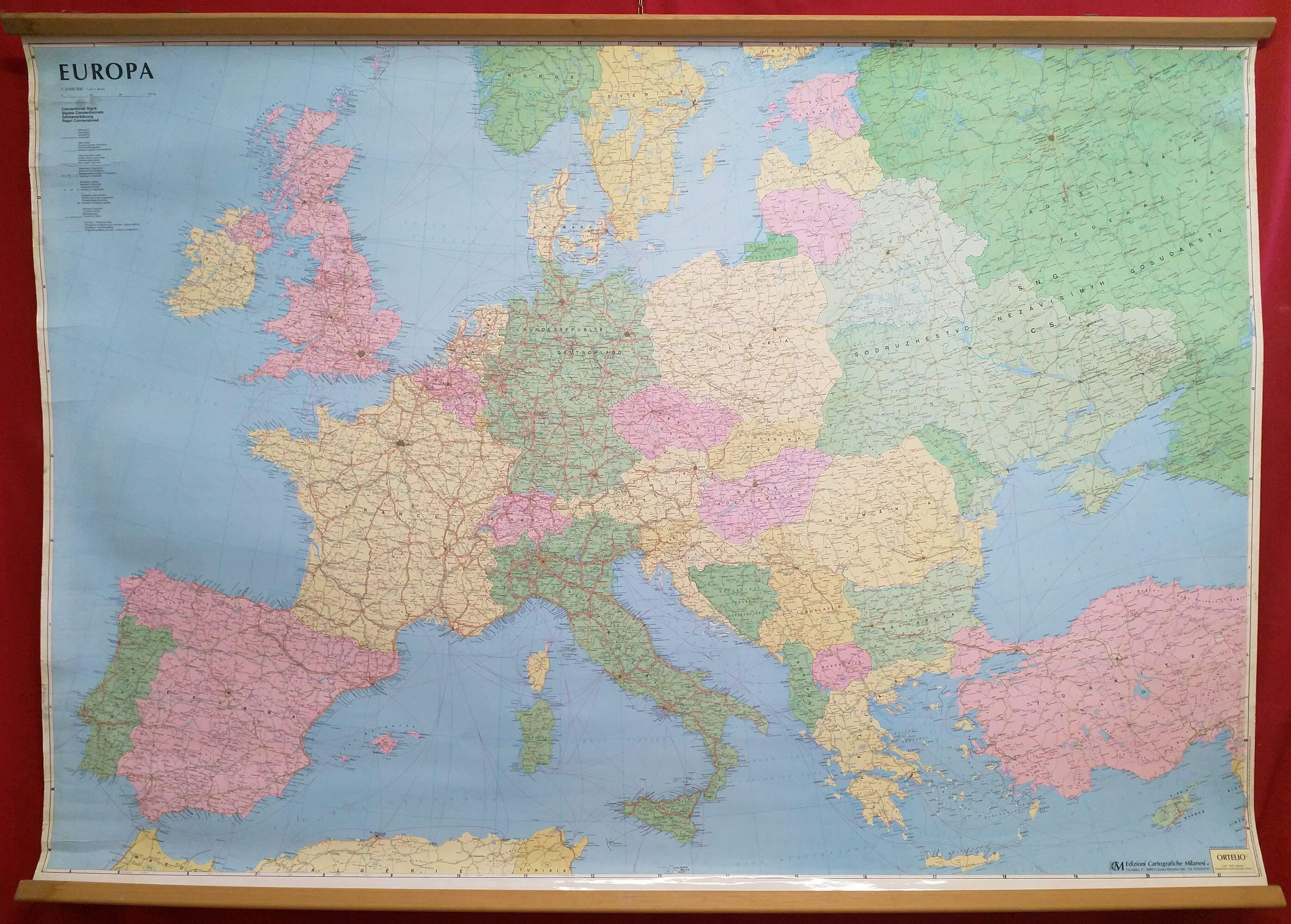 Cartina Geografica Europa In Italiano.Europa Mappa Geografica