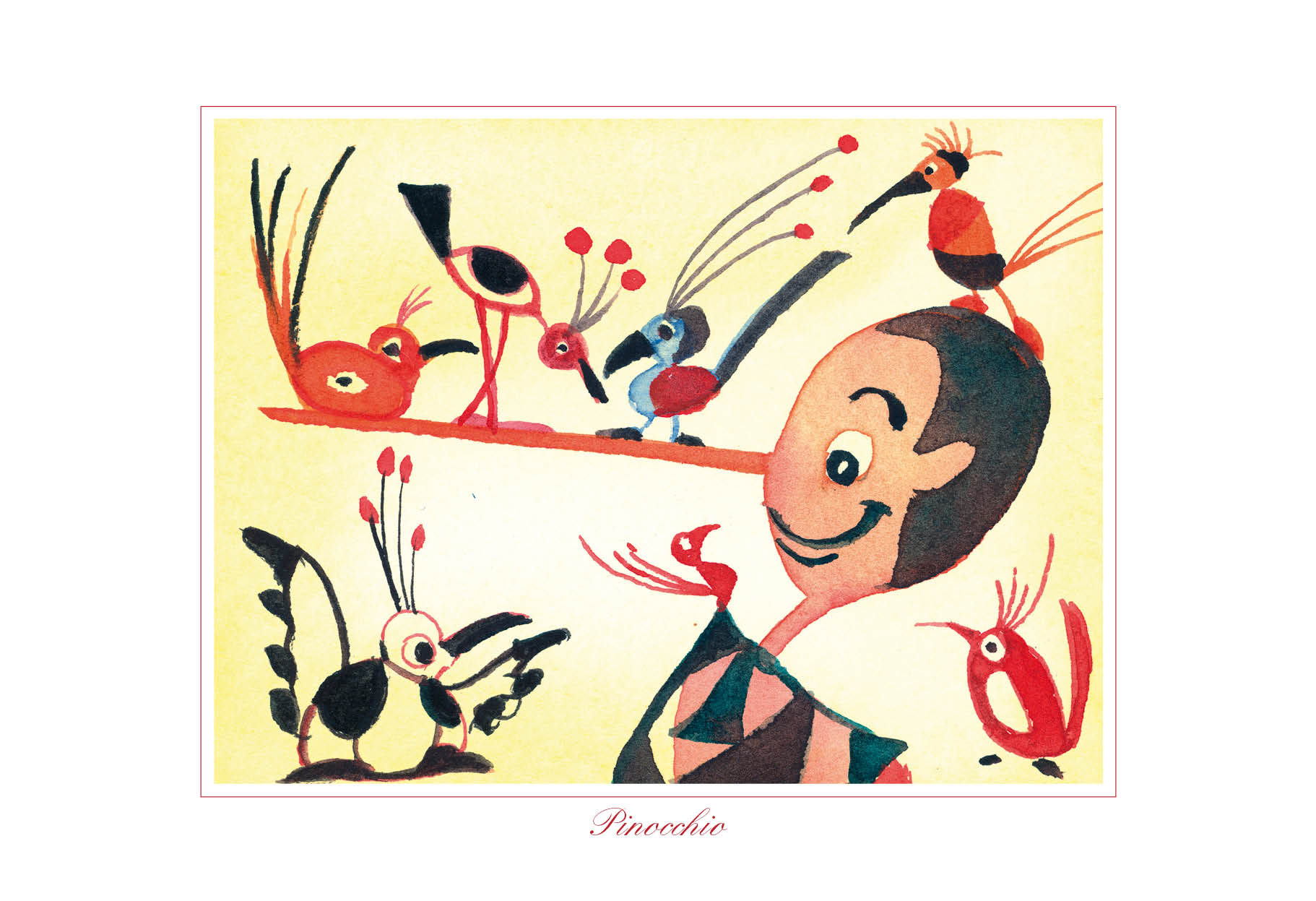 Pinocchio con gli uccellini, Pinocchio and the birds