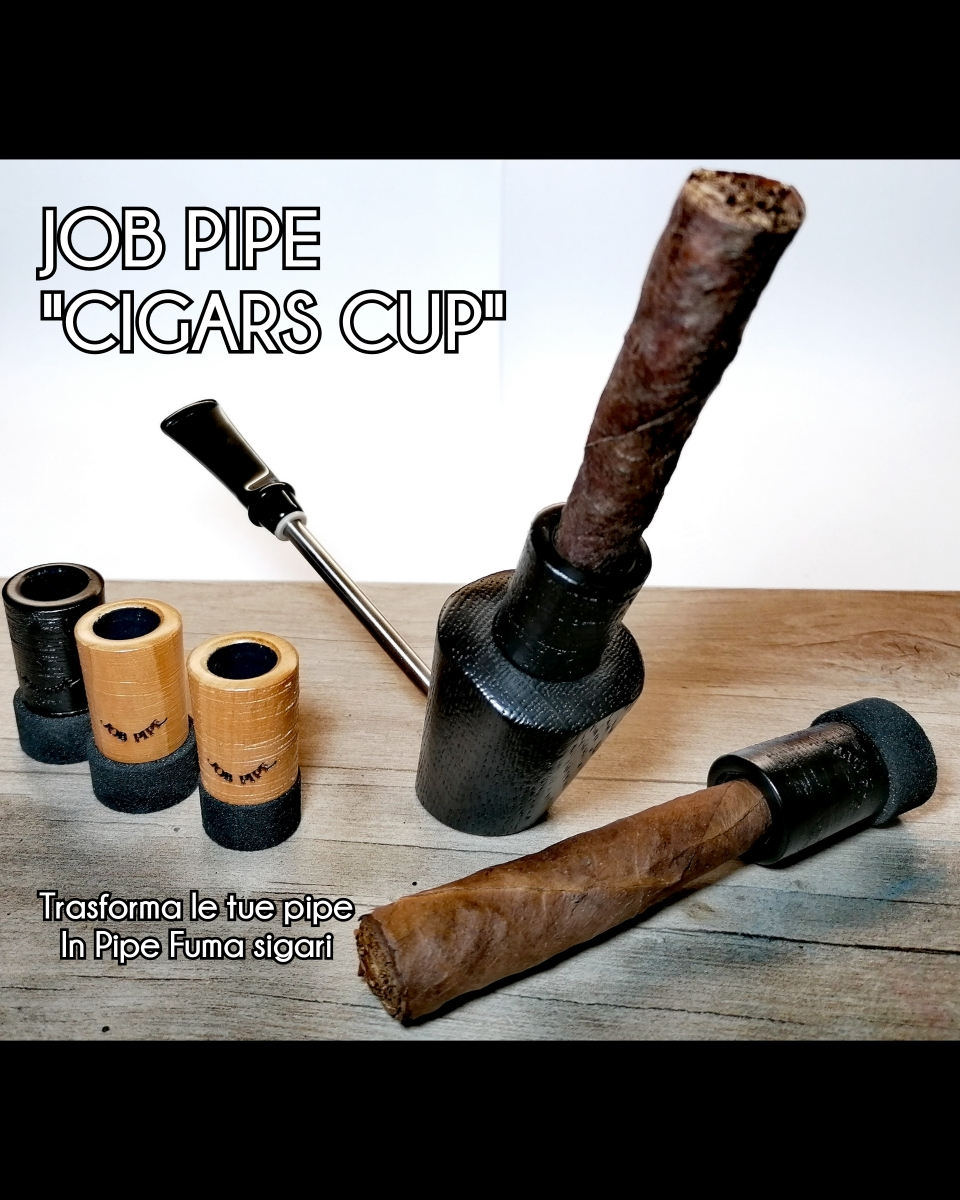 "Job Pipe Cigars Cup Black Size ""S"" o ""L"""