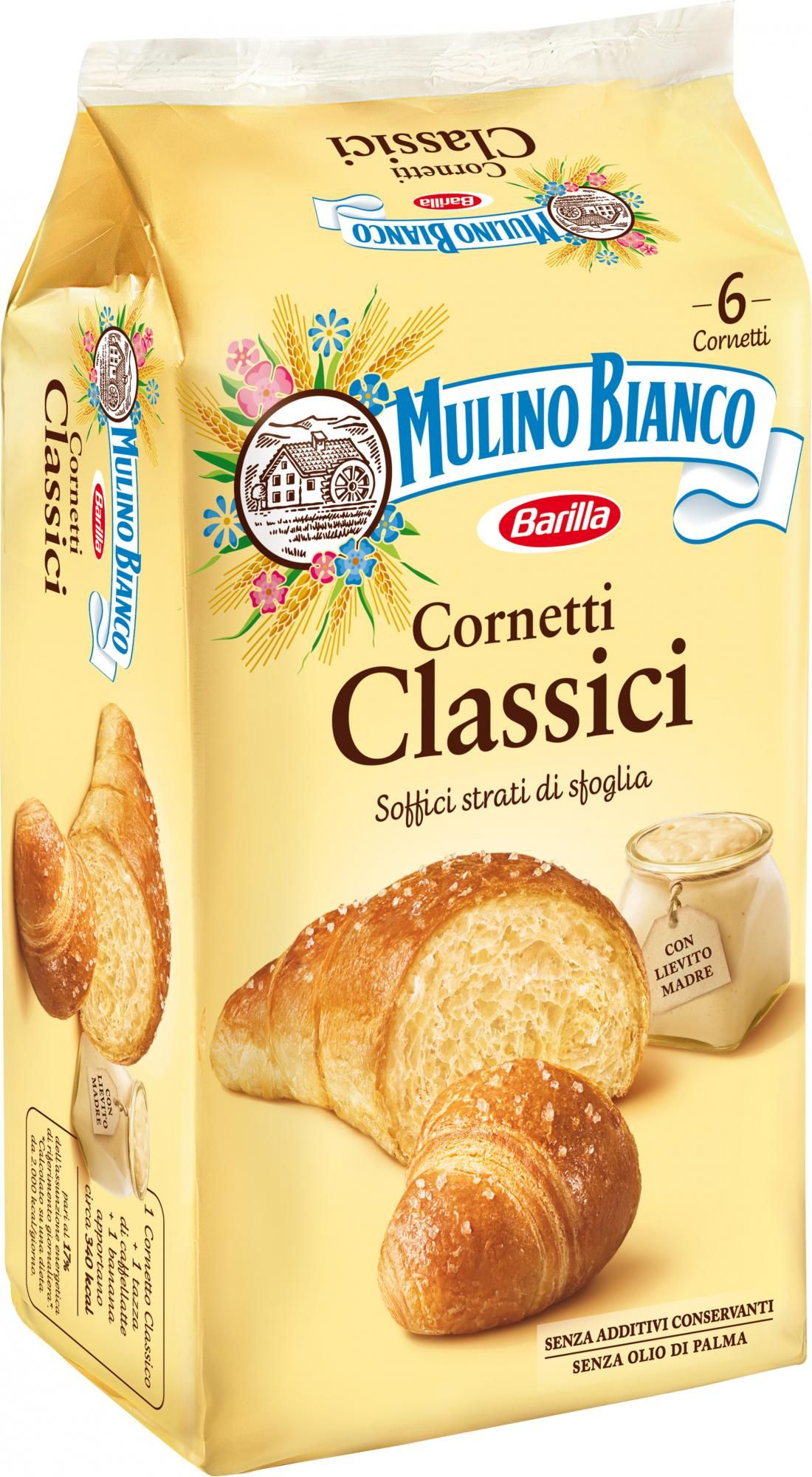 "Mulino Bianco original Croissant 240gr (8.46 oz)  ""Imported from Italy"""